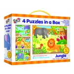 4 PUZZLES IN A BOX - JUNGLE