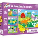 4 PUZZELS IN BOX - ANIMALS  NIEUW 2020